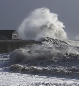 Storm at the Cobb, Lyme Regis