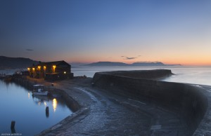 Lyme Cobb at dawn