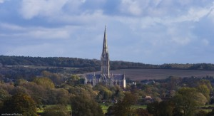 Salisbury Cathedral from the race plain