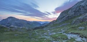 Dawn climbing Scarfel