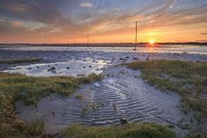 Sunset over the Pilgrims Way, Holy island