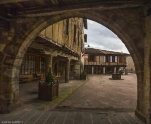 Market square,Castelnau - de- Montmiral
