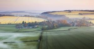 Spring mist over Fovant