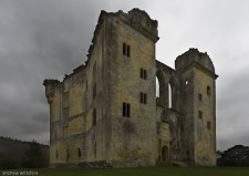 Old Wardour Castle on a typical spring day