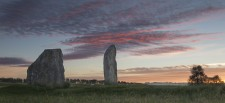 Sunrise over The Cove at Avebury two days before the summer solstice